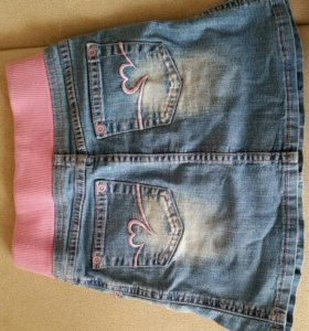 Джинсовая юбка для девочки 6-8 лет