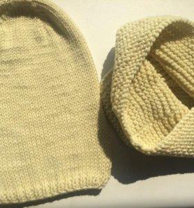Стильные вязаные шапочки для деток и взрослых