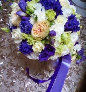 Свадебные букеты любой цвет, стиль недорого.