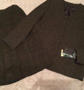 Новая школьная форма (жакет и юбка) рост 146