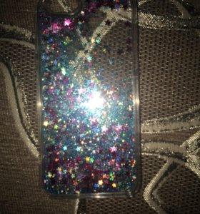 Чехол на iPhone 6/6s с блестками