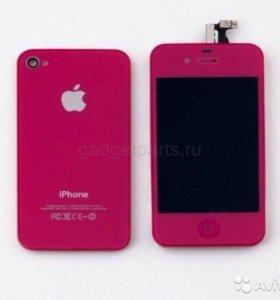 Модуль LCD и задняя крышка для iPhone 4S цветная