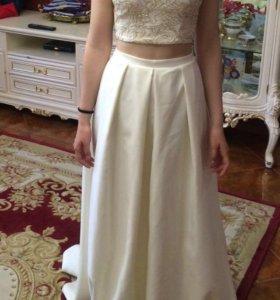 Платье ( топ и длинная юбка)