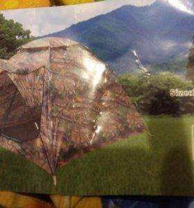 Палатка 3-4 местная цвет камуфляж новая