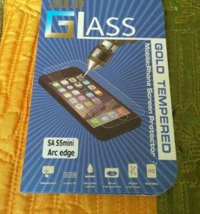 Samsung Galaxy S5 mini стекло защитное, закаленое