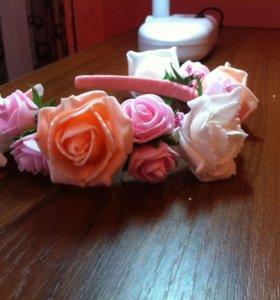 Ободок из роз 🌹