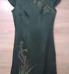 Шелковое платье 44р