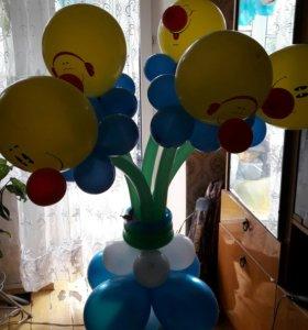 Оформление воздушными шарами праздников гелий