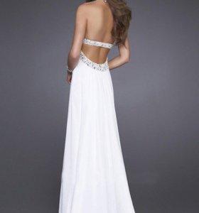 Платье белое вечернее свадебное новое