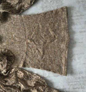 Леопардовая кофта с рукавами - реглан (40-42р)
