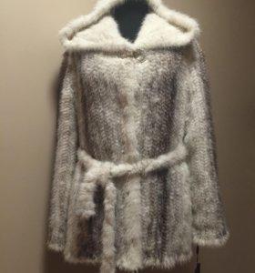 Куртка из вязаной норки 44р