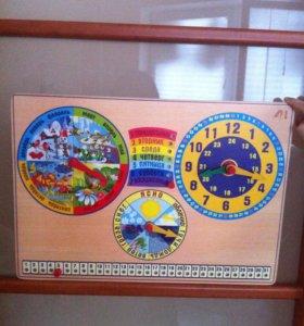 Обучающий планшет(Календарь, времена года,часы)