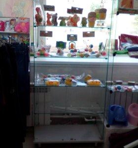 Стеклянный шкаф с дверцами 6 полок