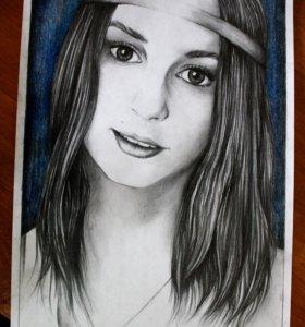 Портреты по фото карандашом!