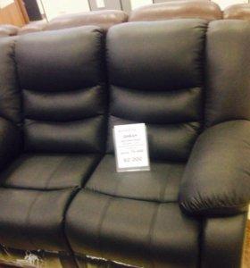 Массажные кожаные кресло и диван