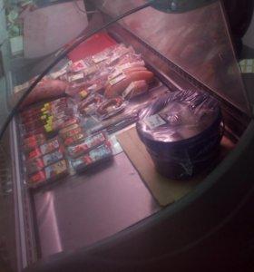 Витрина холодильная! 2х метровая,температура -7+7