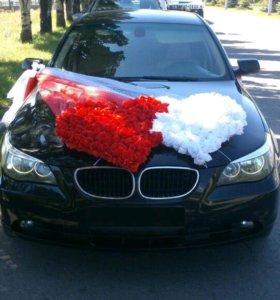 Прокат BMW 5 серии (Обслуживание свадеб, встреч)