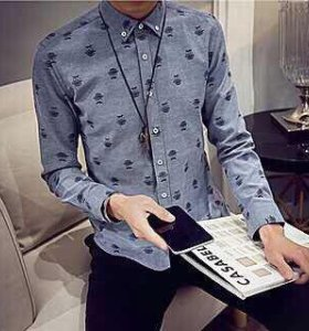 Мужская рубашка размер 46