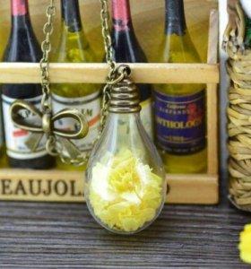 Новая кулон подвеска цветы лепестки лампа лампочка