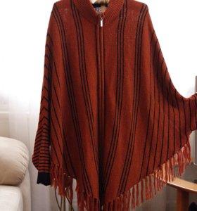 Кардиган панчо женский кофта женская свитер