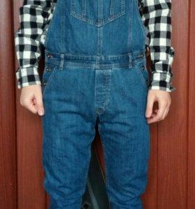 Новый Комбинезон джинсовый мужской