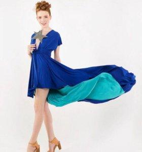 Двух цветное платье трансформер
