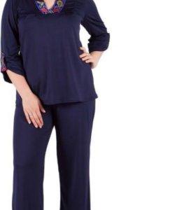 Костюм блуза и брюки размер 58 и больше)новый