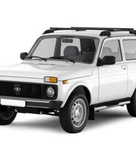 Рейлинг-багажник (черный муар) Lada Нива