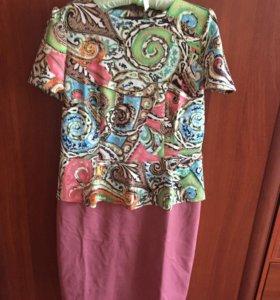 Платье с баской размер 52-54