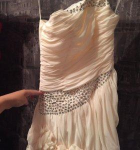 Свадебное платье короткое новое р 38-40-42