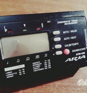 Тюнер для настройки гитары aria atm-100