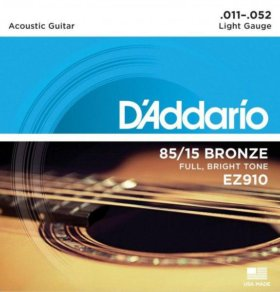 D'Addario EZ910 - струны для акуст. гитары, 11-52