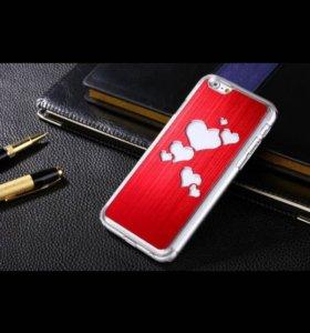 Красный светящийся чехол для iPhone 6 Plus