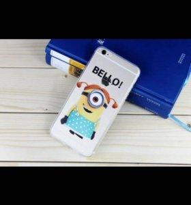 Чехол силикон bello Миньоны для iPhone 6 Plus