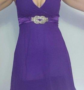 Платье ярко фиолетовое новое из Тайланда 46-48