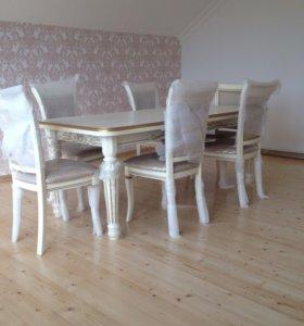 Столы из стулья из массива и шпона бука!
