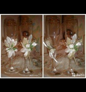 Накидки и бокалы для свадьбы