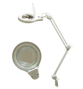 Лупа настольная 8606A на струбцине X5 с кольцевой