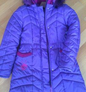 Пальто для девочки 7-10 лет