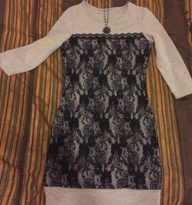 Платье трикотажное 40-42р