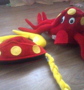 Шапка викинга. Шапка осьминог.