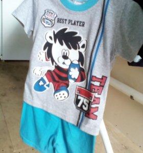 Костюм футболка и шорты 100% хлопок