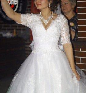 Шикарное Свадебное платье!!!💃