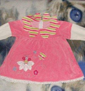 Комплект Нарядное платье+ шапка