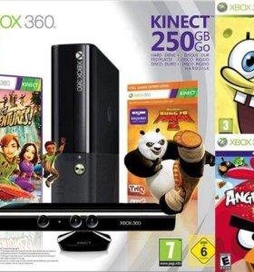 Xbox 360 slim 250Gb + Kinect + 40игр.