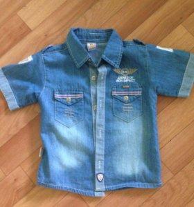 Рубашка джинсовая 98