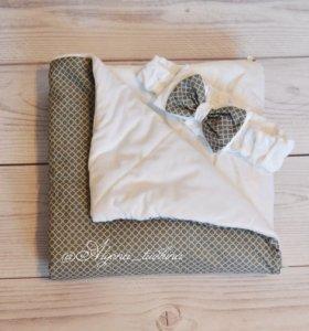 Одеялко-конверт для выписки, прогулок и дома