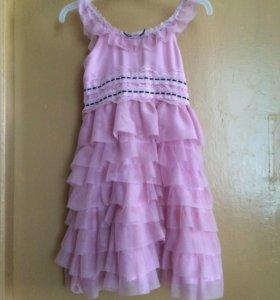 Платье валанистое