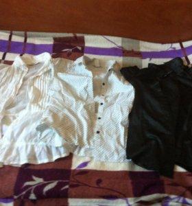 Блузки школьные р146 и152