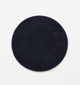 Новый синий шерстяной берет Zara - шерсть